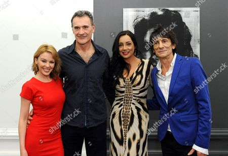 Editorial photo of 'Warhol/Mauro' Exhibition opening at Halcyon Gallery, London, Britain - 24 Jul 2012