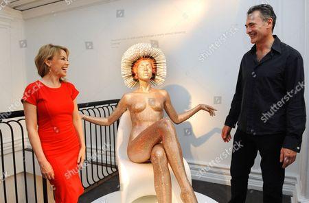 Stock Image of Kylie Minogue and Mauro Perucchetti