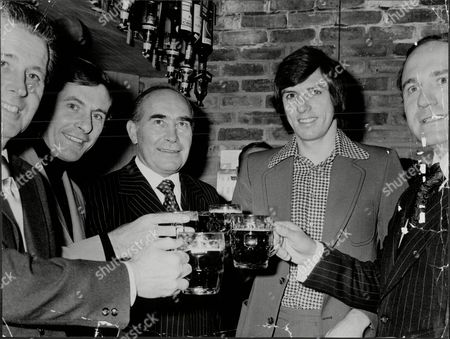 Sir Alf Ramsey (dead April 1999) In The Public House That Was Named After Him In Tunbridge Wells With Harold Shepperton Alan Mullery Martin Peters And George Cohen