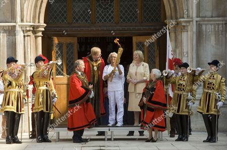 David Wootton the Lord Mayor of London and Torch bearer