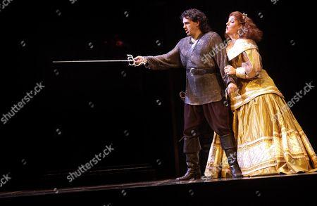 Stock Image of Rhys Meirion as Ernani & Cara O'Sullivan as Elvira