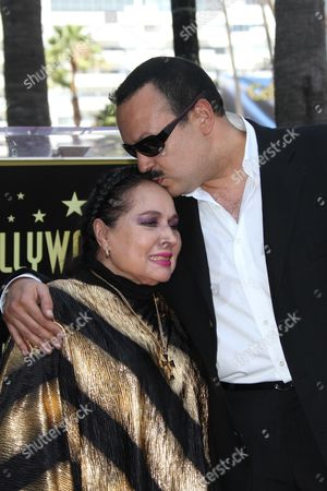 Stock Image of Pepe Aguilar and Mother Flor Silvestre