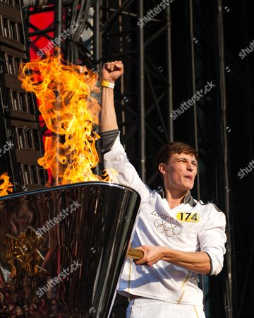Editorial picture of Olympic Torch Relay Finale Concert, Hyde Park, London, Britain - 26 Jul 2012