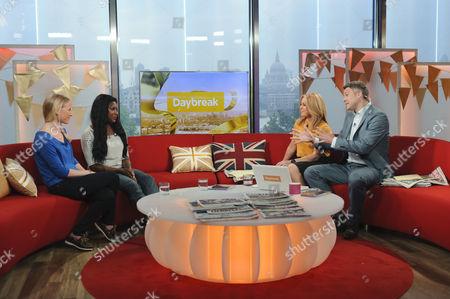 Sarah Ayton and Tasha Danvers with Presenters Helen Fospero and Dan Lobb