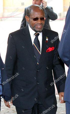 Stock Image of Prime Minister of St. Kitts and Nevis, Dr Denzil Douglas
