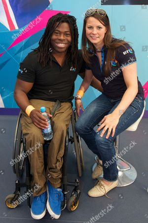 Ade Adepitan and Liz Johnson at BT House