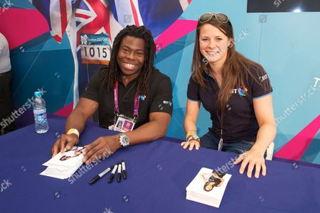 Stock Photo of Ade Adepitan and Liz Johnson at BT House