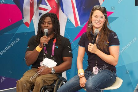 Stock Image of Ade Adepitan and Liz Johnson at BT House