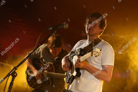 Michael (Mickey) Coles (left) and Robert Coles (right) of Little Comets