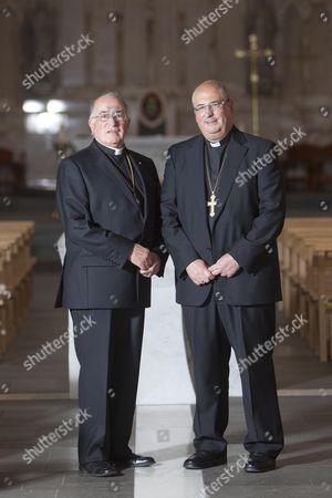 Stock Picture of Archbishop of Glasgow Philip Tartaglia (R) with his brother Father Gerard Tartaglia