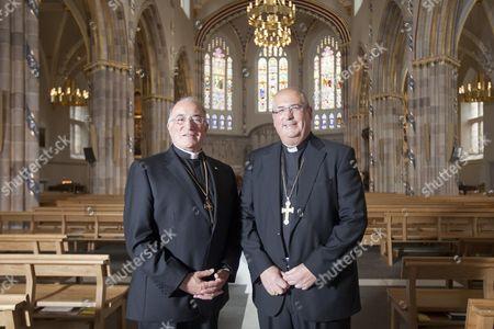 Stock Image of Archbishop of Glasgow Philip Tartaglia (R) with his brother Father Gerard Tartaglia