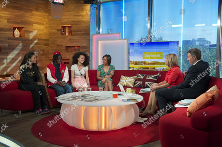 Stock Photo of Adelle Tracey, Henrique Costa, Jasmine Breinburg and Dame Kelly Holmes with Kate Garraway and Dan Lobb