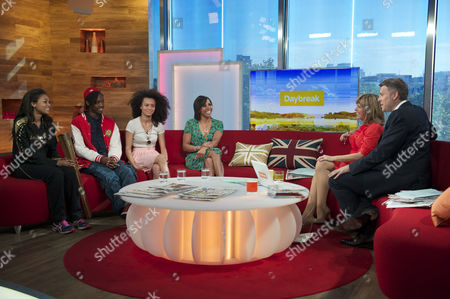 Adelle Tracey, Henrique Costa, Jasmine Breinburg and Dame Kelly Holmes with Kate Garraway and Dan Lobb