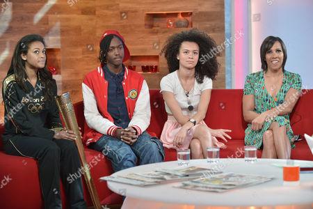 Adelle Tracey, Henrique Costa, Jasmine Breinburg and Dame Kelly Holmes
