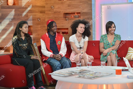 Stock Image of Adelle Tracey, Henrique Costa, Jasmine Breinburg and Dame Kelly Holmes