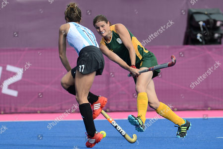 Jennifer Wilson of South Africa during the Womens Hockey match between South Africa and Argentina