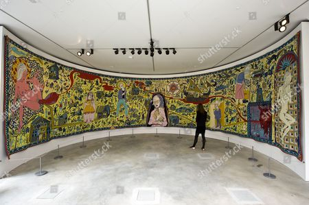 Tapestry by Grayson Perry titled' Walthamstow Tapestry' (2009)