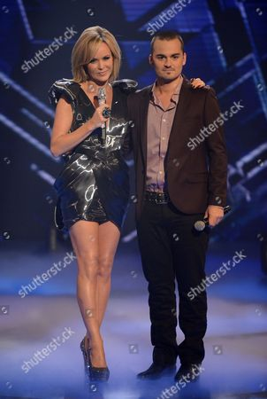 Amanda Holden and Rory Taylor
