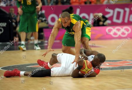 Great Britain vs Brazil. Alex Garcia and Luol Deng
