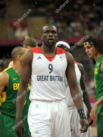 Great Britain vs Brazil. Luol Deng