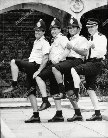 London Marathon Preps 1987 Marathon Runners Supt. Keith Southgate Pc. Malcolm Fester Pc. Eddie Smith And Pc. Terry Astbury