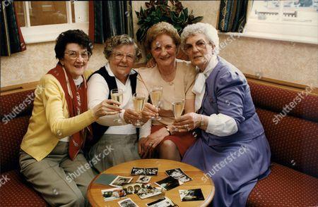 Women's Royal Air Force Girls 49th Reunion Margaret Leighton (74) Vera Mortimer (77) Joan Foster (72) Madge Clarkson (70)