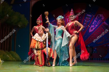 Editorial image of 'Spamalot' musical at the Harold Pinter Theatre, London, Britain - 26 Jul 2012