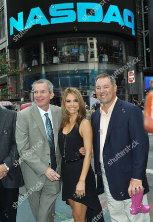 Editorial photo of Crocs 10th Anniversary ringing of the NASDAQ Bell, New York, America - 31 Jul 2012