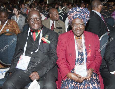 Kenneth Kaunda with Dr Miriam Khamadi from Kenya