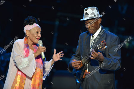 Stock Image of Omara Portuondo and Gilberto Oviedo La Portilla