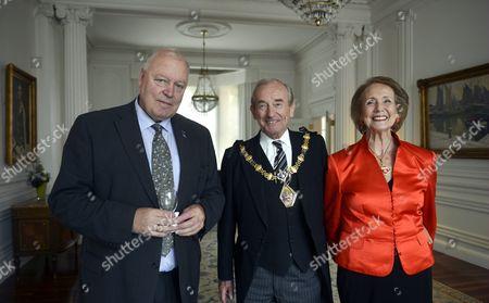 Stock Photo of Finland's Ambassador to London Pekka Huhtaniemi with Lord and Lady Mayor of Kensington and Chelsea