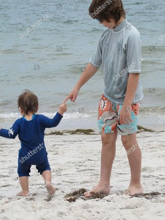 Stock Photo of Lorenzo Gabriel and Lucas Jagger