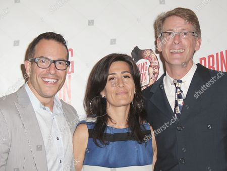 Michael Mayer, Jeanine Tesori and Dick Scanlon