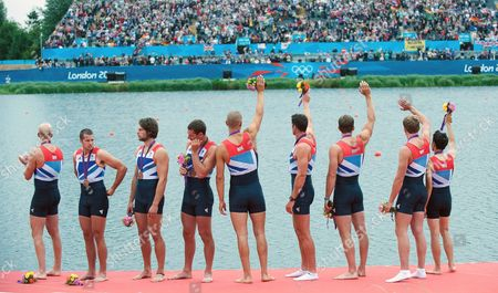 Great Britain's mens Eight crew of Alex Partridge, James Foad, Tom Ransley, Richard Egington, Mohammed Sbihi, Greg Searle, Matthew Lanridge, Constantine Louloudis and Phelan Hill