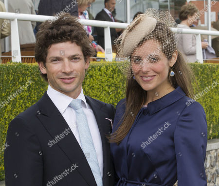 Sam Waley-Cohen and wife Annabel Ballin