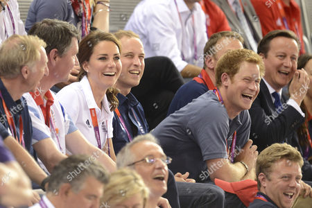 David Hemery, Catherine Duchess of Cambridge, Prince William, Prince Harry and David Cameron