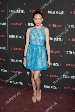 Editorial image of 'Total Recall' film screening, New York, America - 02 Aug 2012