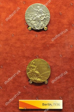 Stock Picture of Silver and Gold medal from the Berlin 1936 Olympic Games