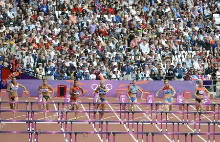 Katarina Johnson-Thompson, Dafne Schippers, Chantae Mcmillan, Grit Sadeiko, Lyudmyla Yosypenko, Olga, Kurban, Lilli Schwarzkopf Compete in the 100m Hurdles Compete in the 100m Hurdles