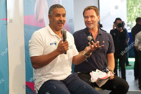 Daley Thompson and Richard Arnold