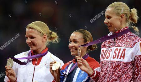 Lilli Schwarzkopf, Jessica Ennis and Tatyana Chernova