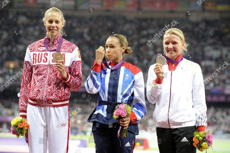Editorial picture of The 2012 London Olympic Games, Athletics, Heptathlon, Britain - 04 Aug 2012