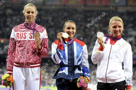 Stock Picture of Lilli Schwarzkopf, Jessica Ennis and Tatyana Chernova