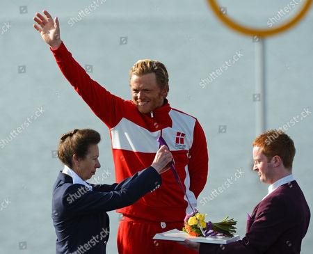 Medal presentation by Princess Anne, Jonas Hogh-Christensen won silver.
