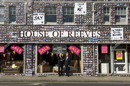 Editorial image of vInspired covers House Of Reeves store with 4,000 positive messages from young people as part of the Reverse Riots charity campaign, London, Britain - 06 Aug 2012