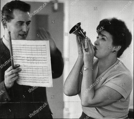 Stock Image of Halle Orchestra Leader Martin Milner With Actress Pat Pheonix.