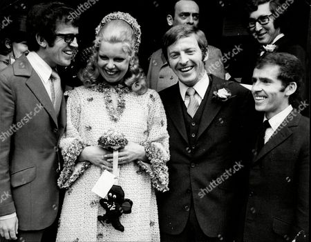 The Youngest King Brother Weds; Michael King Left Caryl Arrol 25 With Husband Denis King 29 With Buttonhole And Tony King.