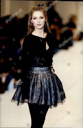 Chantal Thomas Autumn/winter 1994 Fashion Collection - Paris - Model Kate Moss Miniskirt.