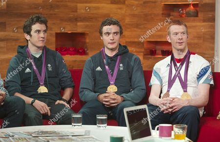 Geraint Thomas, Stephen Burke and Ed Clancy