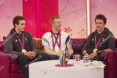 Stephen Burke, Ed Clancy and Geraint Thomas